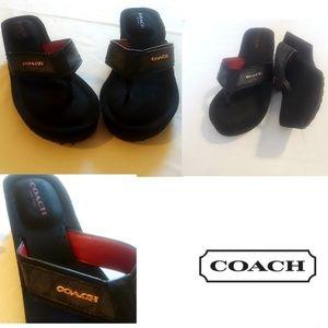 Coach platform sandals